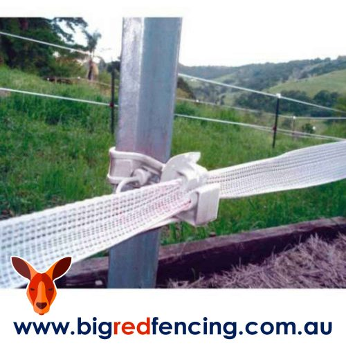 Bainbridge SnapStay electric fence insulator for star pickets A3223-W White with 40mm polytape