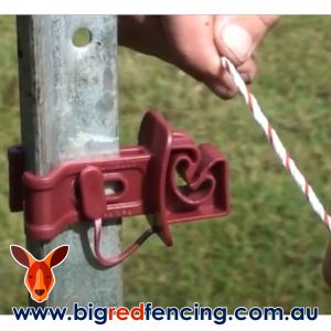 Bainbridge SnapStay electric fence insulator for star pickets A3223 and A3223-W- Fitting Polyrope