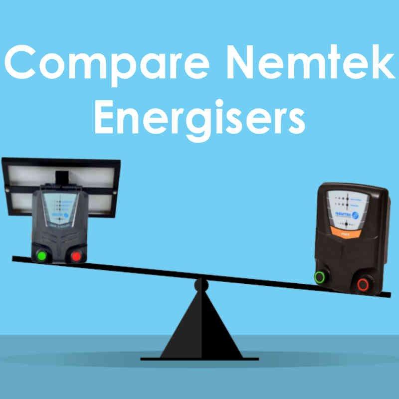 Compare Nemtek Electric Fence Energisers Chart