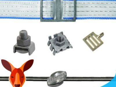 ELECTRIC FENCE JOINERS BOLTS BUCKLES CRIMPS AND CLAMPS