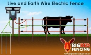 Electric fence grounding diagram live and earth circuit for dry soil