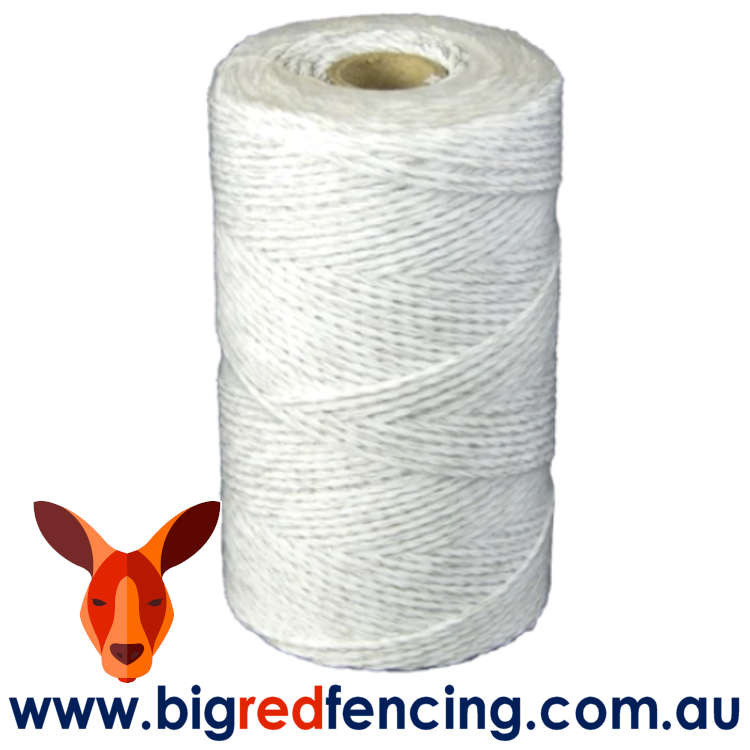 JVA 200 metre roll of electric fence poly wire SP015 white