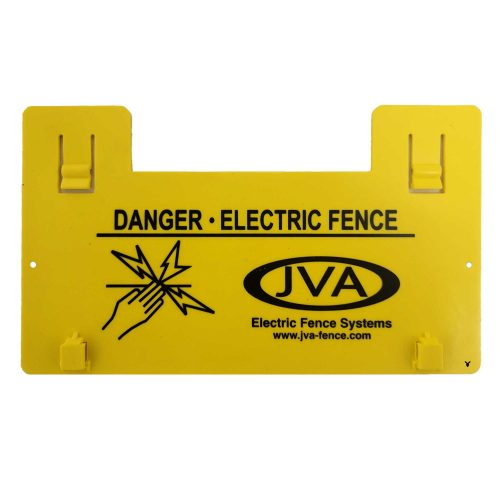 JVA Electric Fence Warning Sign - N-N701A - Yellow