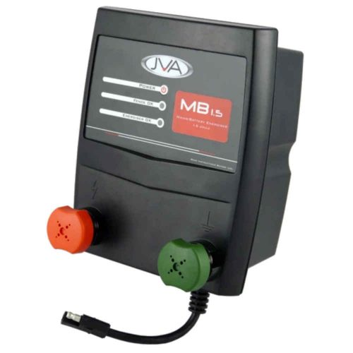 JVA MB1.5 Mains Battery Electric Fence Energizer 1.5 Joule15km Front View
