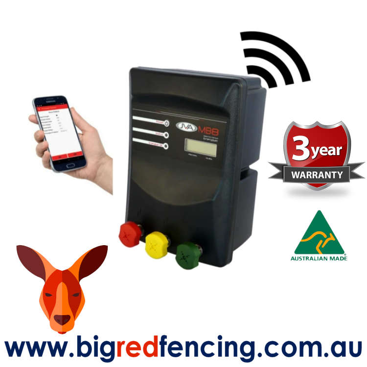 JVA MB8 80km Mains or Battery Powered Electric Fence IP Energizer® 8 Joule 1