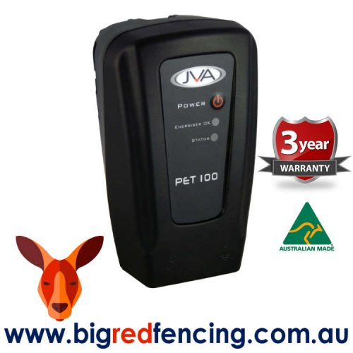 JVA PET100 1km Mains or Battery Powered Electric Fence Energiser PTE2237