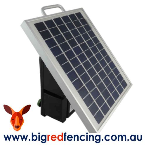 JVA SV10 8km Solar Powered Electric Fence Energiser SOLAR PANEL VIEW- 1.1 Joule PTE2161
