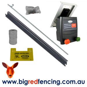 JVA Solar electric fence kits for dogs and pets