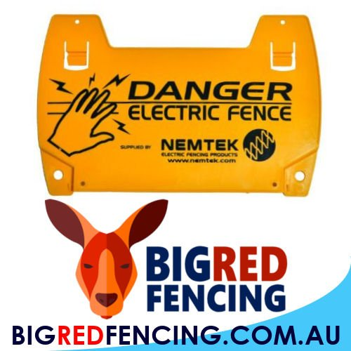 Signs for an electric fence safety