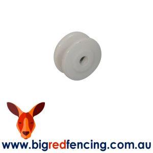 Nemtek 10 x Electric Fence Porcelain Reel Insulators EI-BPFL10 EI-BPFL