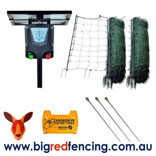 Nemtek 100m Poultry Electric Fence Kit With Solar Energiser
