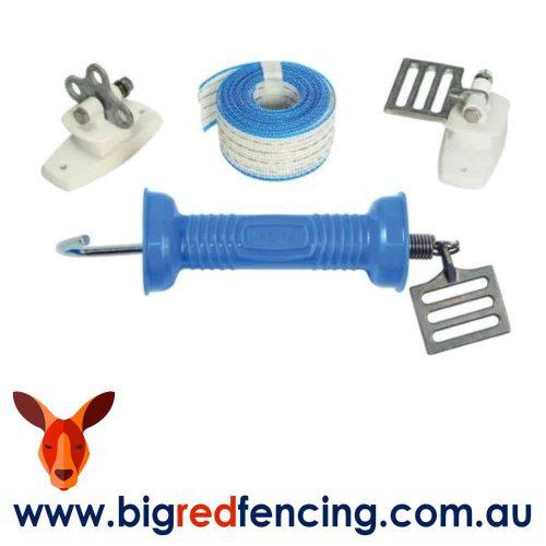 Nemtek 40mm wide tape electric fence gate kit AA-GHT4