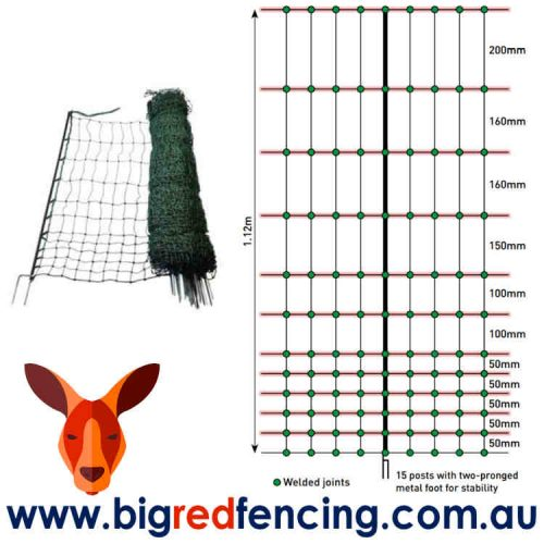 Nemtek 50 metre roll of Chicken and Poultry Electric Fence Netting mesh and wire size AA-NET112
