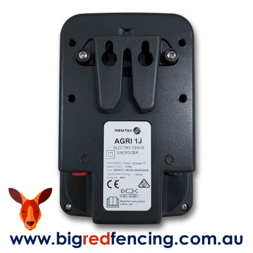 Nemtek Agri 10 - 10km 1 Joule Mains or Battery Powered Electric Fence Energiser AE-A010J Back Unit View Mounting Bracket