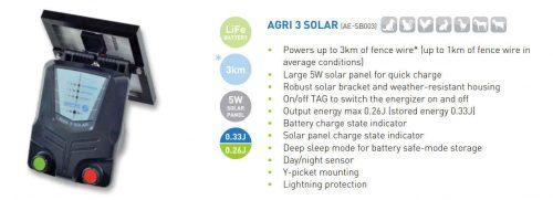 Nemtek Agri 3 Solar Electric Fence Energiser Features