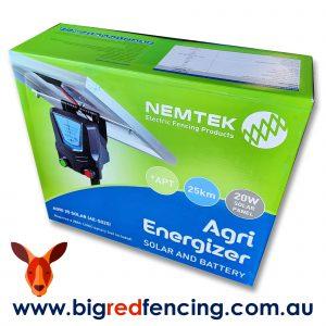 Nemtek Agri Solar 25km Solar Electric Fence Energiser AE-S025 box front