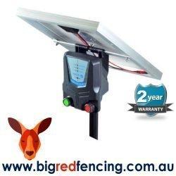 Nemtek Agri Solar 25km Solar Electric Fence Energiser AE-S025 side view