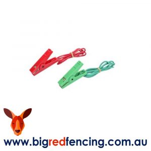 Nemtek Electric Fence Leads with alligator clips Red and Green AEE-CL-GR