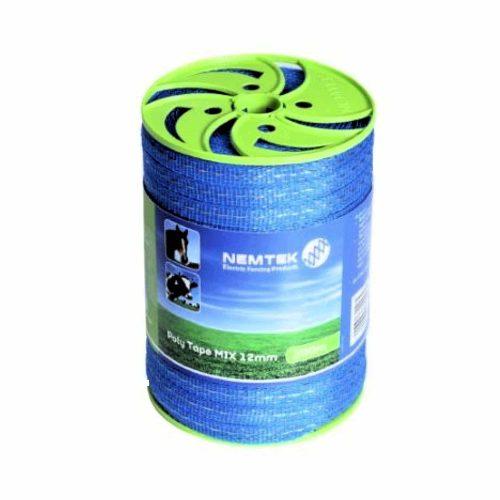 Nemtek Electric Fence Poly Tape 12mm x 200m AW-PTMX12MM-200 Mix5