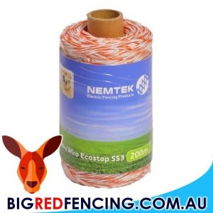 Nemtek Electric Fence Polywire Eco Stop SS3 AW-PWSS3-200M