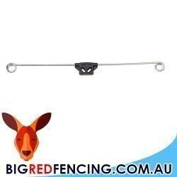 Nemtek Fencing Bracket Offset - Double Live Tip Electric Fence Insulator side view