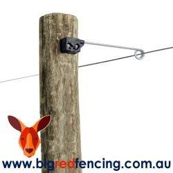 Nemtek Fencing Offset Bracket Insulator - Single Live Tip AA-YP-LIVE-S on wood Post