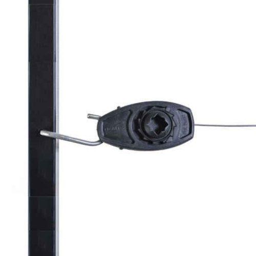Nemtek Hybrid Combo Tensioner End Strainer on steel post ES-CTNTBB