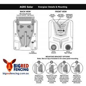 Nemtek Solar Electric Fence Energiser Mounting Instruction Diagram
