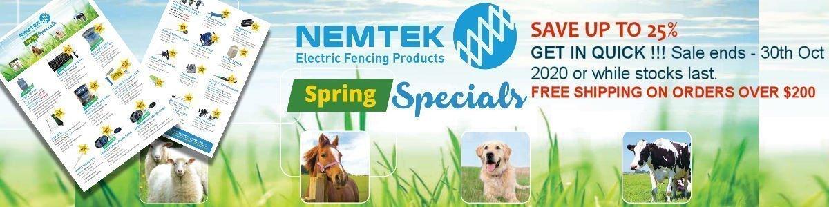 Nemtek Spring sale electric fence supplies 2020