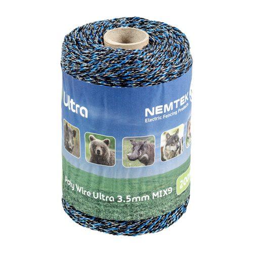 Nemtek Ultra Poly Wire 3.5mm x 200m Mix9 AW-PWUL9-200M Black