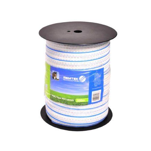 Nemtek electric fence Poly Tape Mix10 40mm x 200m roll AWPTMX40MM200