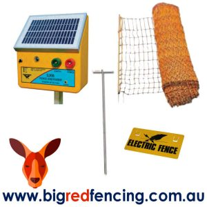 THUNDERBIRD SOLAR ELECTRIC FENCE POULTRY NETTING KIT CONTENTS