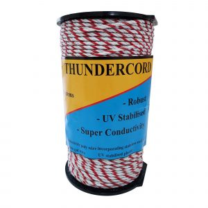 Thunderbird 200m roll of Thundercord Electric Fence twisted rope wire EF-52