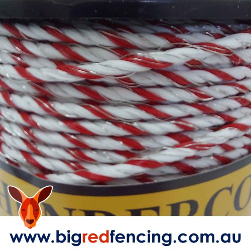 Thunderbird 200m roll of Thundercord Electric Fence twisted rope wire EF-52 Close Up