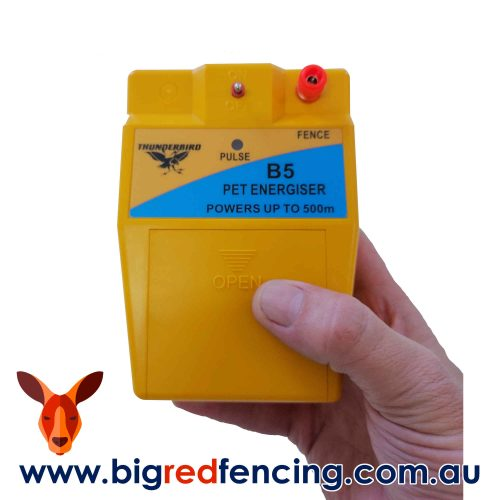 Thunderbird B-5 Battery Powered Electric Fence Energiser Dog & Pet Safe Portable hand carry