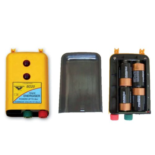 Thunderbird BD-20 - 2km Battery Powered Strip Grazing Electric Fence Energiser open view