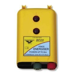 Thunderbird BD20 2km Battery Powered Strip Grazing Electric Fence Energiser