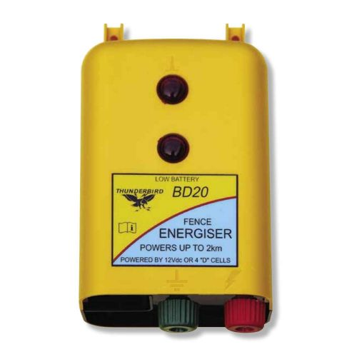 Thunderbird BD20 2km Battery Powered Strip Grazing Electric Fence Energiser