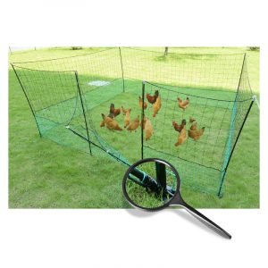 Thunderbird Electric Poultry Pet Netting With Gate 25m Roll EF-PNET-25M Close Gate View