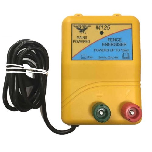 Thunderbird M125 - 15km 240v Mains Powered Electric Fence Energiser M-125