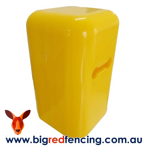 Thunderbird Star Picket Steel Post Safety Cap Cover Hi-Vis Yellow EF-400 Side View